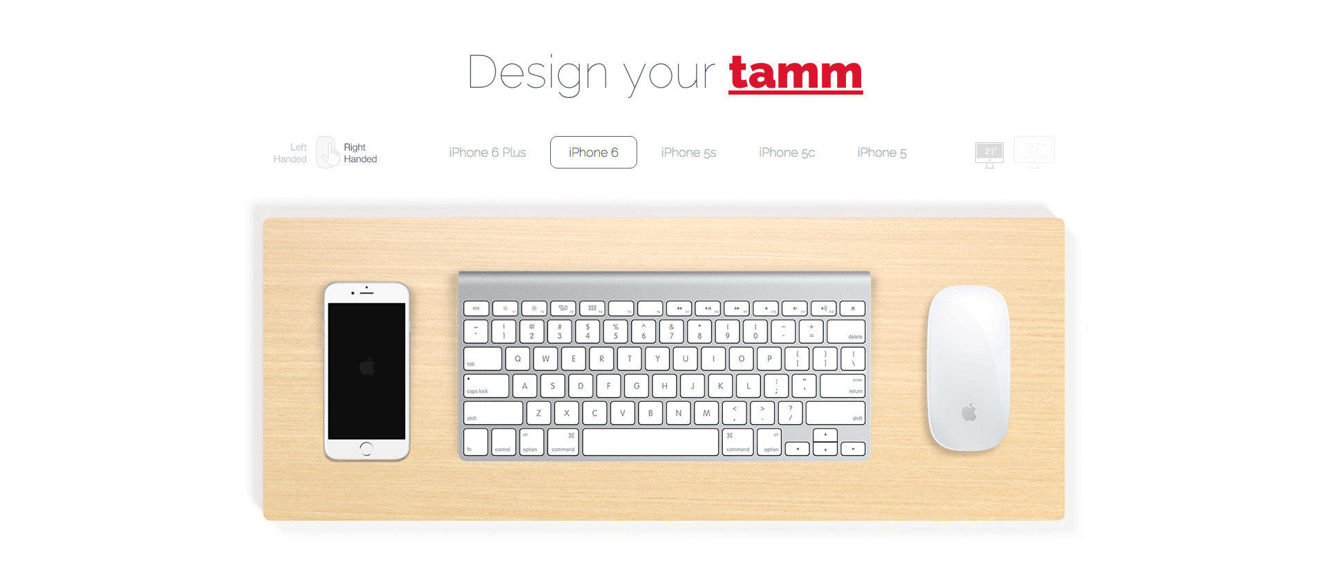 tamm - iPhone Dock & iMac Desk Organizer
